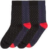 Jack and Jones Men's 4PK Jacsky dot ankle sock