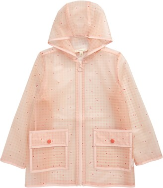 Tucker + Tate Kids' Gingham Check Transparent Hooded Raincoat