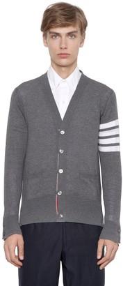 Thom Browne Intarsia Stripes Wool Cardigan