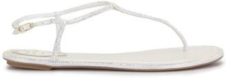 Rene Caovilla Diana crystal embellished sandals