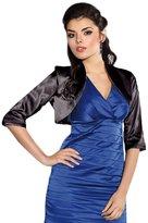 Ossa Fashion Wedding Satin Stole Jacket Bolero Shrug 3/4 Sleeve UK Size 6-44