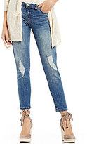 Celebrity Pink Destructed Ankle Skinny Jeans