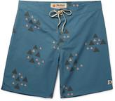 Mollusk Rocky Long-Length Cotton-Blend Swim Shorts