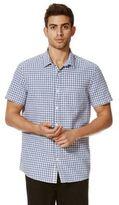 F&F Gingham Linen Blend Short Sleeve Shirt, Men's