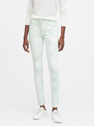Banana Republic Petite Mid-Rise Skinny Tie-Dye Jean