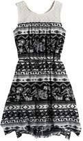 Mudd Girls 7-16 Print Handkerchief-Hem Dress