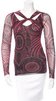 Jean Paul Gaultier Knot-Accented Printed Top