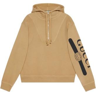 Gucci logo print hooded sweatshirt