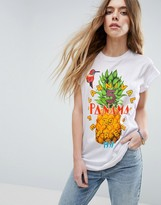 Asos T-Shirt With Pineapple Print And Vintage Badges