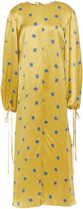 Olivia von Halle Printed Silk-satin Kaftan