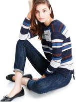 Joe Fresh Women's Stripe Mixed Stitch Sweater, Blue (Size L)