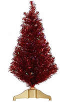 Vickerman 3' Red Hot Artificial Tinsel Christmas Tree with Multi Lights