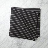 CB2 Black and Natural Pinstripe Napkin