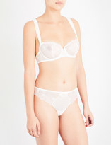 Simone Perele Boheme stretch-lace and crepe half-cup bra