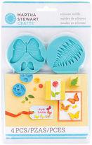 Martha Stewart Marth Stewart Baby-blue Silicone Garden-theme Craft Molds (four-pack)
