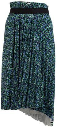 Balenciaga Floral Pleated Asymmetric Midi Skirt