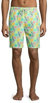 Peter Millar Hula Girl Swim Trunks, Dark Green