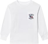 Ralph Lauren White Polo and Co US Flag Long Sleeve Tee