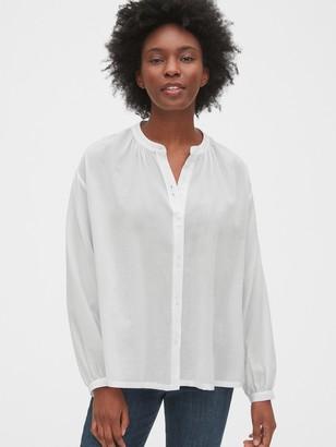 Gap Band-Collar Shirt