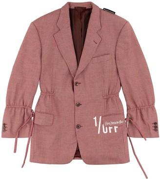 1/Off Paris Joop red checked blazer