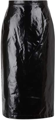 N°21 N 21 Waxed-effect midi skirt