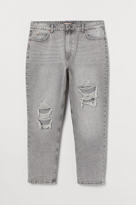H&M H&M+ Straight High Ankle Jeans - Gray