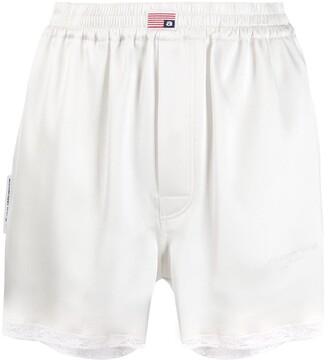 Alexander Wang Logo Patch Shorts