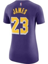 Nike Women's Los Angeles Lakers Player T-Shirt - LeBron James