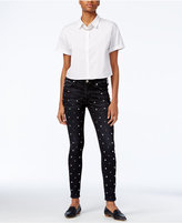 True Religion Halle Wash Skinny Jeans, Studded Black Wash