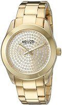 SO&CO New York Women's 5067.2 Madison Quartz Crystal Filled Dial Stainless Steel 23K Gold-Tone Bracelet Watch