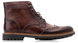Base London Springbok Leather Brogue Boot