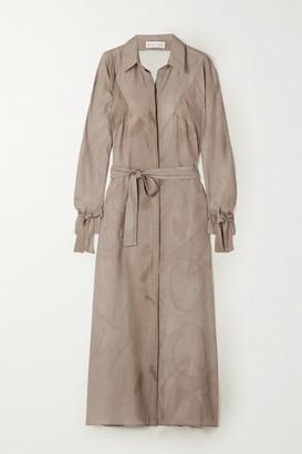 BITE Studios - + Net Sustain Printed Organic Silk Midi Dress - Tan