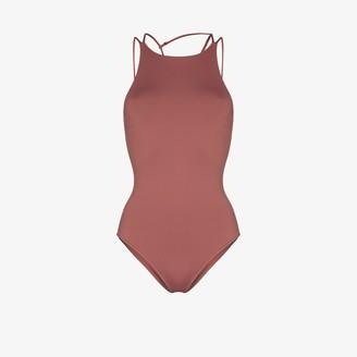 BONDI BORN Anais high-neck swimsuit