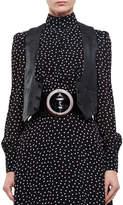 Saint Laurent Leather Biker Vest, Black