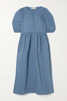 The Great The Ravine Cotton Midi Dress - Blue