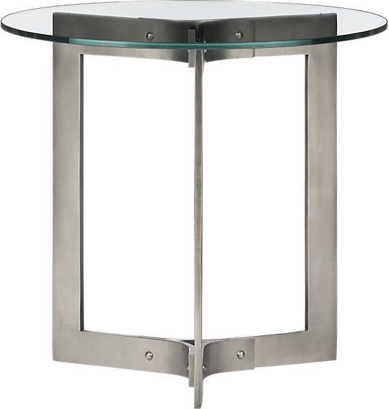 Crate & Barrel Rivet Side Table