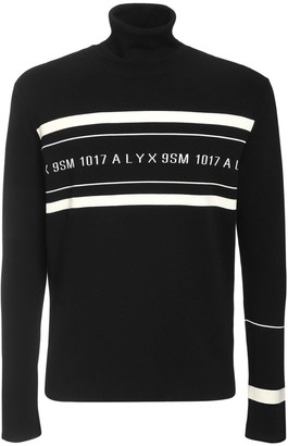 Alyx Logo Stretch Viscose Turtleneck Sweater