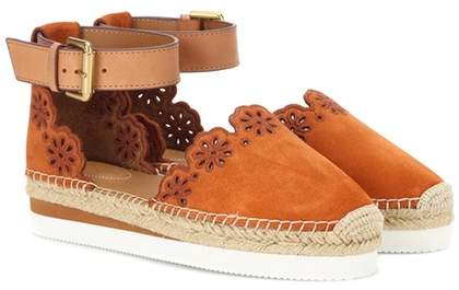 See by Chloe Suede and leather espadrilles