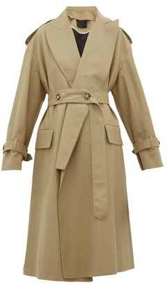 Proenza Schouler Detachable-lapel Wool-blend Trench Coat - Womens - Beige