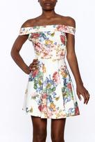 Sage Floral Mini Dress