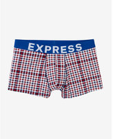 Express small check sport trunks