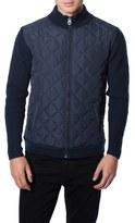 7 Diamonds Men's 'Gatti' Quilted Panel Lambswool Knit Jacket