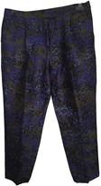 Giambattista Valli Blue Wool Trousers for Women