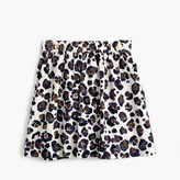 J.Crew Girls' painted leopard-print skirt