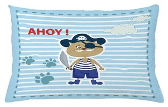 "East Urban Home Ahoy Its a Boy Indoor / Outdoor Lumbar Pillow Cover Size: 16"" x 26"""