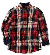 Daniel Cremieux Long-Sleeve Elbow Patch Plaid Twill Woven Shirt