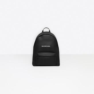 Balenciaga Calfskin small backpack with embossed logo