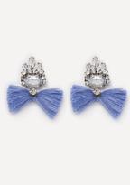 Bebe Crystal & Tassel Earrings