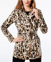 INC International Concepts Leopard-Print Trench Coat, Created for Macy's