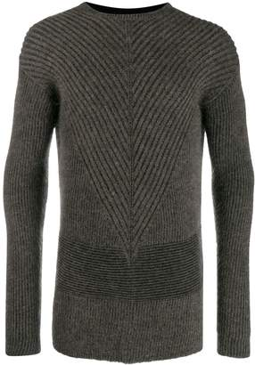 Rick Owens ribbed knit sweater